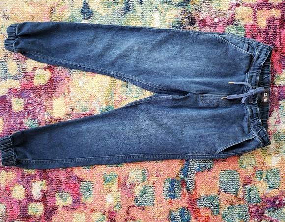DU/ER sz 28 drawstring waist elastic cuff jeans